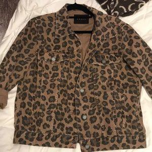 Cheetah jean jacket